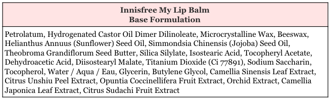 Innisfree My Lip Balm Base