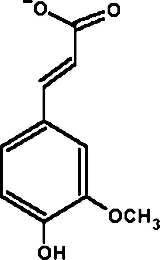 Ferulic Acid Structure