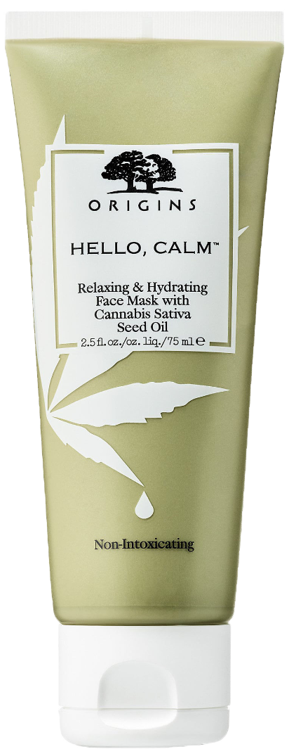ORIGINS Hello, Calm Relaxing & Hydrating Face Mask with Cannabis Sativa Seed Oil