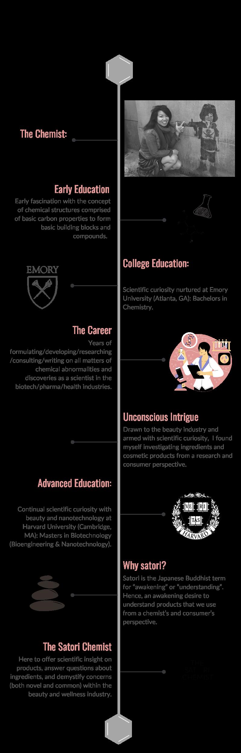The Satori Chemist Timeline